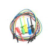 Altele: Cablu test cu clips I.C  5 pcs