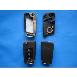 Carcasa cheie VW 3 butoane cu lamela HU66